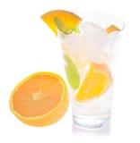 Soda with orange Royalty Free Stock Images