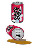 Soda Pop Cans Stock Photos