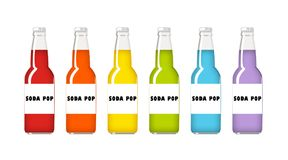 Soda Pop Rainbow Royalty Free Stock Photography