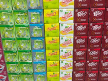 Soda Pop Selection at Grocery Store Royalty Free Stock Images