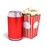Soda popcorn Royalty Free Stock Image