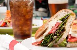 Soda and sandwich Stock Photo