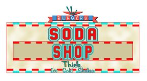 Soda shop concept Royalty Free Stock Photography