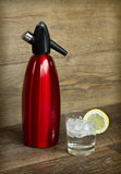 Soda siphon and soda glass Stock Images