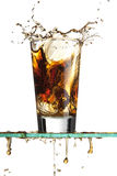 Soda splash stock image