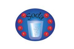 Soda-sticker Stock Image