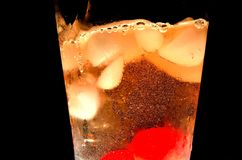 Soda Swirl. Swirl from a soda pour into a glass Royalty Free Stock Image