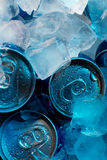 Condensation on cans Royalty Free Stock Photos