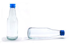 Soda water bottle with blank label. Isolated on wh Stock Image