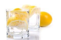Soda water and lemon Royalty Free Stock Image