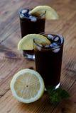 Soda whit ice and lemon Royalty Free Stock Images