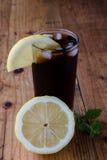 Soda whit ice and lemon Royalty Free Stock Photo