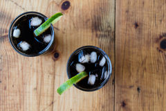Soda whith ice and lime Stock Photography
