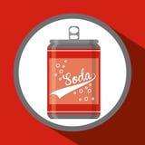 Sodaconceptontwerp Royalty-vrije Stock Afbeeldingen