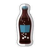 sodafles geïsoleerd pictogram royalty-vrije illustratie