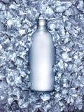 Sodafles in ijs wordt gekoeld dat stock foto