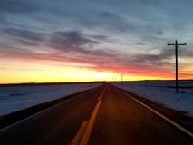 SoDak-Sonnenaufgang stockbild