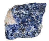 Sodalite mineral gem Stock Photos