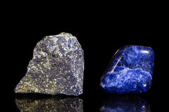 Sodalite, uncut and Tumble finishing Royalty Free Stock Photography