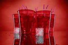 Sodas em uns copos plásticos Fotografia de Stock