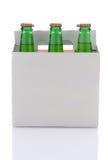 sodavatten för packe sex för flaskcitronlimefrukt Arkivfoto