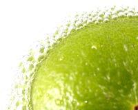 Sodawasser Blase mit Zitrone Stockfoto