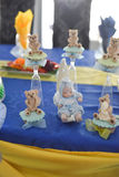 Słodcy misie i dziecka przyjęcie urodzinowe Obraz Royalty Free