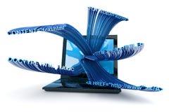 Soddisfare di Web page Immagine Stock