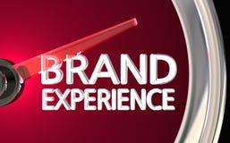 Soddisfazione del cliente 3d Illustrati del tachimetro di esperienza di marca royalty illustrazione gratis