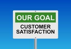 Soddisfazione del cliente il nostro scopo Immagine Stock Libera da Diritti