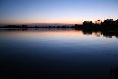 Soderica sunset 2. Beautifull sunset at lake Soderica / Croatia Stock Images