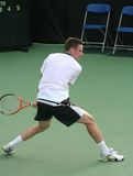 Soderling: Tennis Player Backhand Royalty Free Stock Images