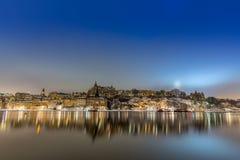 Sodermalm, Estocolmo por noche Imágenes de archivo libres de regalías