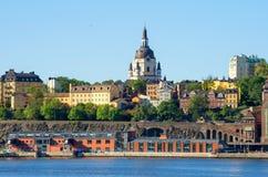 Sodermalm. Stockholm, Suède images libres de droits