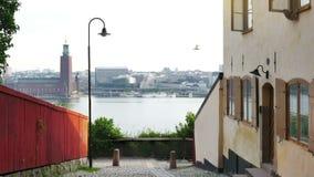 Sodermalmdistrict van Stockholm, Zweden stock videobeelden
