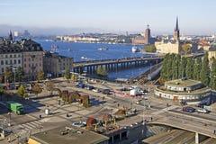 Sodermalms à Stockholm, Suède Images stock