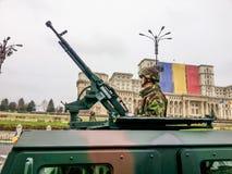 Sodier с пулеметом Стоковые Фотографии RF