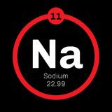 Sodium chemical element. Soft, silver white, highly reactive metal. One of the most abundant elements on Earth Stock Photo