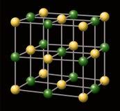 Sodium chlorek sól - NaCl - royalty ilustracja