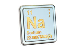 Sodium Na, chemical element sign. 3D rendering Stock Image