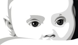 Słodka dziecko twarz Fotografia Stock