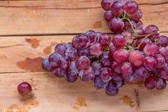 Słodki i czerwony winogrono Zdjęcie Stock