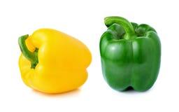 Słodki kolor żółty i zielony pieprz Fotografia Stock