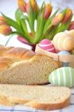 Słodki Niemiecki Wielkanocny chleb Fotografia Royalty Free