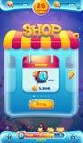 Słodki światowy wiszącej ozdoby GUI sklepu ekran dla wideo sieci gier Zdjęcie Stock
