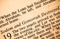 Sodom et Gomorrhe ont détruit photos stock
