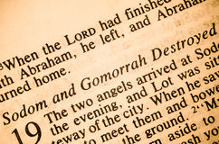 Sodom and Gomorrah Destroyed stock photos