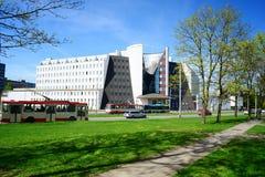 Sodra för social försäkring kontor i den Vilnius staden Arkivbilder
