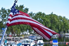 Sodus Point Bay Marina in New York Stock Image