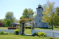 Sodus Point Lighthouse, Lake Ontario stock photo